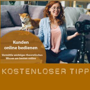 Kostenloser Tipp zur Vermittlung von theoretische Wissen online für die Kunden ihrer Hundeschule
